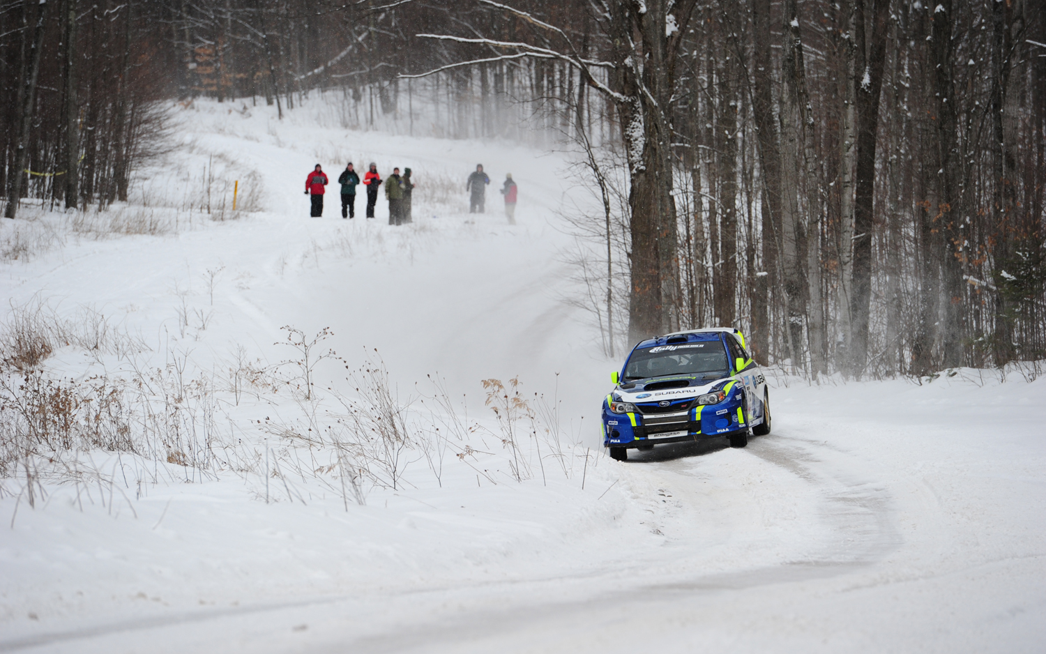 It's cold out. Warm up with some rally racing.